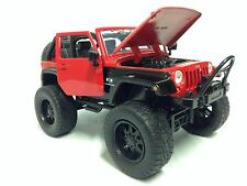 2007 JEEP WRANGLER OFF ROAD,COLLECTIBLE, 1:24 SCALE DIECAST, JADA TOY, RED, DSP