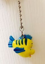"Disney Little Mermaid Flounder 1.5"" PVC Figure Fan Light Lamp Pull Figurine Toy"