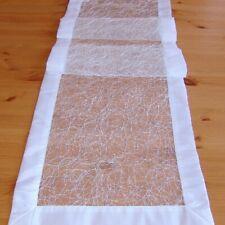 Tischläufer - Organza Stickerei weiß (40/160)