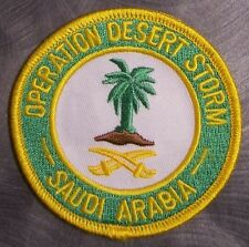 Embroidered Patch Gulf War Operation Desert Storm Saudi Arabia NEW