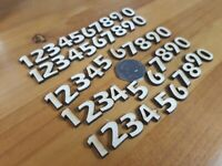 50x Wooden NUMBERS plywood Craft Wedding Card Making Number -  5 sets of 10