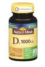 Nature Made Vitamin D3 1000 IU Tablet 300 Count, Supports Bone & Immune Health