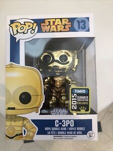 Pop Vinyl Star Wars C3PO (CHROME) Exclusive 2015 Summer Convention BNIB