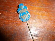 THE BEATLES ORIGINAL 1964 BADGE PIN BROOCH  BLUE. DUTCH W.V. VELUW ZEIST AWESOME
