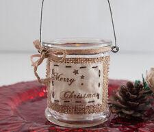 Weihnachten Teelicht Kerzenständer Teelicht Hessian Glas Weihnachten Dekor