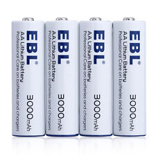 4x AA 3000mAh Lithium Li-ion Leakproof Batteries Non-Rechar​geable Battery USA