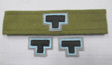 WW2  AIF 2/23rd battalion Tobruk colour patchs & folded puggarre set