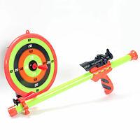 Kids Blowing Guns with Dart Set Toy Indoor Outdoor Shooting Target for Children