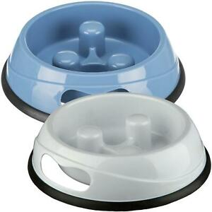 Trixie Slow Feed Dog Bowl with Non-Slip Base, Anti-Gulp - 0.45L, 20cm (Assorted)
