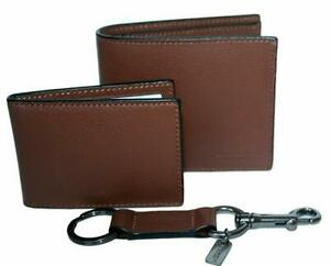 Coach Men's 3-in-1 Compact ID Wallet in Sport Calf Leather - Saddle