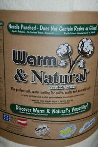 """The Warm Company 'Warm & Natural' 90"""" W Wadding/Batting Quilting/Crafts by 1/4M*"""