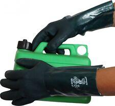 """12 x UCI V335 Heavy Duty Green Double Dipped 14"""" PVC Gauntlet Gloves EN388 4121"""
