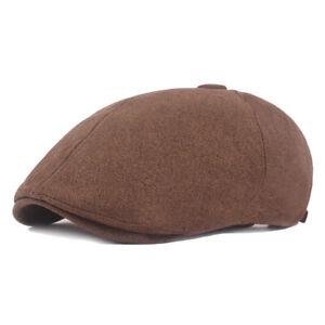 Men Linen Cotton Hat Newsboy Golf Driving Cap Outdoor Adjustable Beret Cap