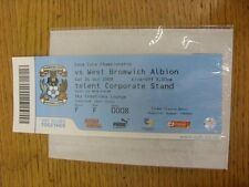 24/10/2009 BIGLIETTO: COVENTRY CITY V WEST BROMWICH ALBION (SKY Creations Lounge).