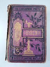 Vintage Book The Lansdowne Poets THE POETICAL WORKS OF LORD BYRON Warne & Co.