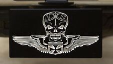 "Winged Skull with Iron Cross Billet Aluminum Hitch Cover - 2"" Receiver"