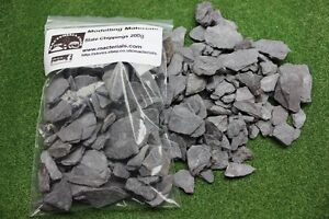 Slate Chipping Scenic Scatter Basing Stones Large 200g Bag - First Class Postage
