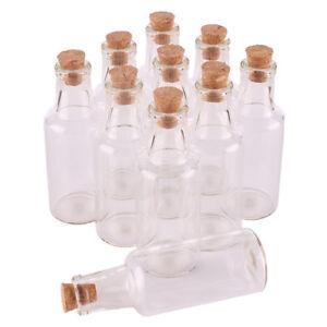 24pcs 12ml 22x60x7mm mini Glass wishing bottle with Cork Stopper Lid for Wedding