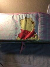"Winnie The Pooh Crib Bumper Pad Pink-Piglet 9"" X 12' -Free Ship-Vgc"