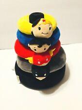 Hallmark Baby 5pc DC Super Hero Stacker Itty Bittys Rattle Rings