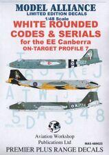 Model Alliance 1/48 Blanco Redondeado Códigos y Series para Bac / Ee Canberras #