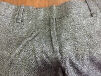 Ann Taylor black tweed wool rayon blend lined flat front pants 8P petite