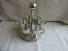 More details for vintage 1950`s aluminium egg cups x 6 with stand height 17 cm