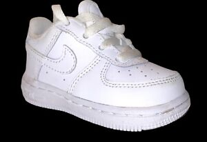 Toddler Nike Air Force 1 Triple White  Size 4 4C Worn Twice No Crease PC