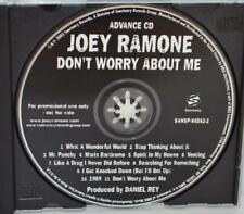 JOEY RAMONE Don't Worry About Me US Promo Advance CD Rare 11 Song NM THE RAMONES