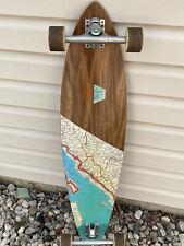 arbor fish longboard skateboard wood grain
