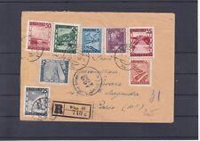 1947 Reco Brief zensuriert Landschafstbilder Frankatur Wien - Paris Ankunftstemp