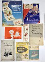 VTG Lot of 8 Household Advertising Laundry Methods Ironing Mending 1930s-1950s