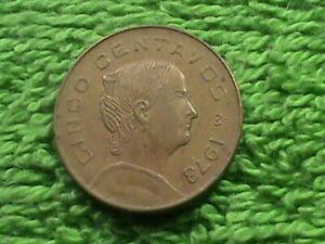 MEXICO 5 Centavos 1973 ROUND TOP 3