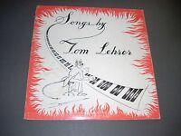 "Songs by TOM LEHRER 10"" LP Lehrer Records TLP-1 1950s original VG"