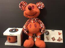 Disney Store Mickey Mouse Memories JULY FULL SET PLUSH PIN MUG SET IN HAND
