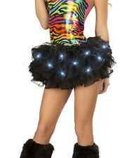 Black light up Tutu Led Lights Halloween Costume Petticoat Rave Party New Years