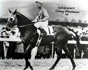 Seabiscuit & Sonny Workman,  8x10  B&W Photo