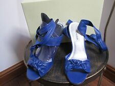 DUNE blue two part heeled sandal UK3