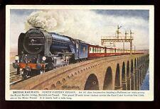 British Railways NER Queen of Scots #60117 Border Bridge artist A Anderson PPC