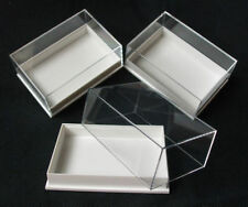 50 x PERSPEX DISPLAY SPECIMEN BOX IDEAL FOR FOSSILS, METEORITES, DIE CASTS,COINS
