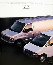 1992 Ford Commercial Vans new vehicle brochure