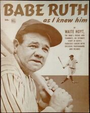 "Babe Ruth Poster Print - 1948 ""As I Knew Him"" Waite Hoyt Cover - 11""x14"" Sepia"