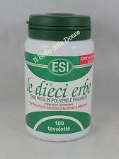 ESI LE DIECI ERBE 100 tavolette regola intestino lassativo digestione no glutine