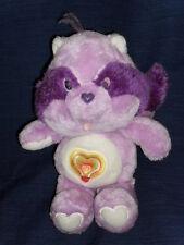"Vintage 13"" Care Bears Cousins Purple Raccoon ""Bright Heart"""