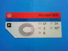 Billet Jeux Olympiques Montréal 24.07.1976 - Athlétisme (10:00)