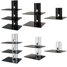 DVD Glass Wall Shelves Bracket Cable Management for SKY Wii DVD XBOX PS3