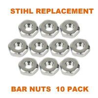 2 OEM STIHL  BAR NUTS M8   0000 955 0801  2 nuts MS  271 290 260 261 250