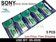 5x Sony SR626SW 377 1.55V cell coin button watch battery Japan made Ed 05-2020
