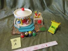 Fisher Price Little People Play Family Carousel Amusement park ride 111 horse