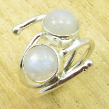 6 ! Silver Plated Jewelry Online Store Fancy Rainbow Moonstone Cute Ring Size Us